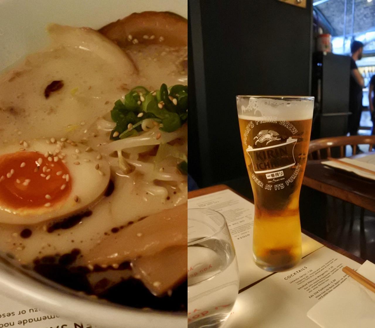 ビールとラーメン♡