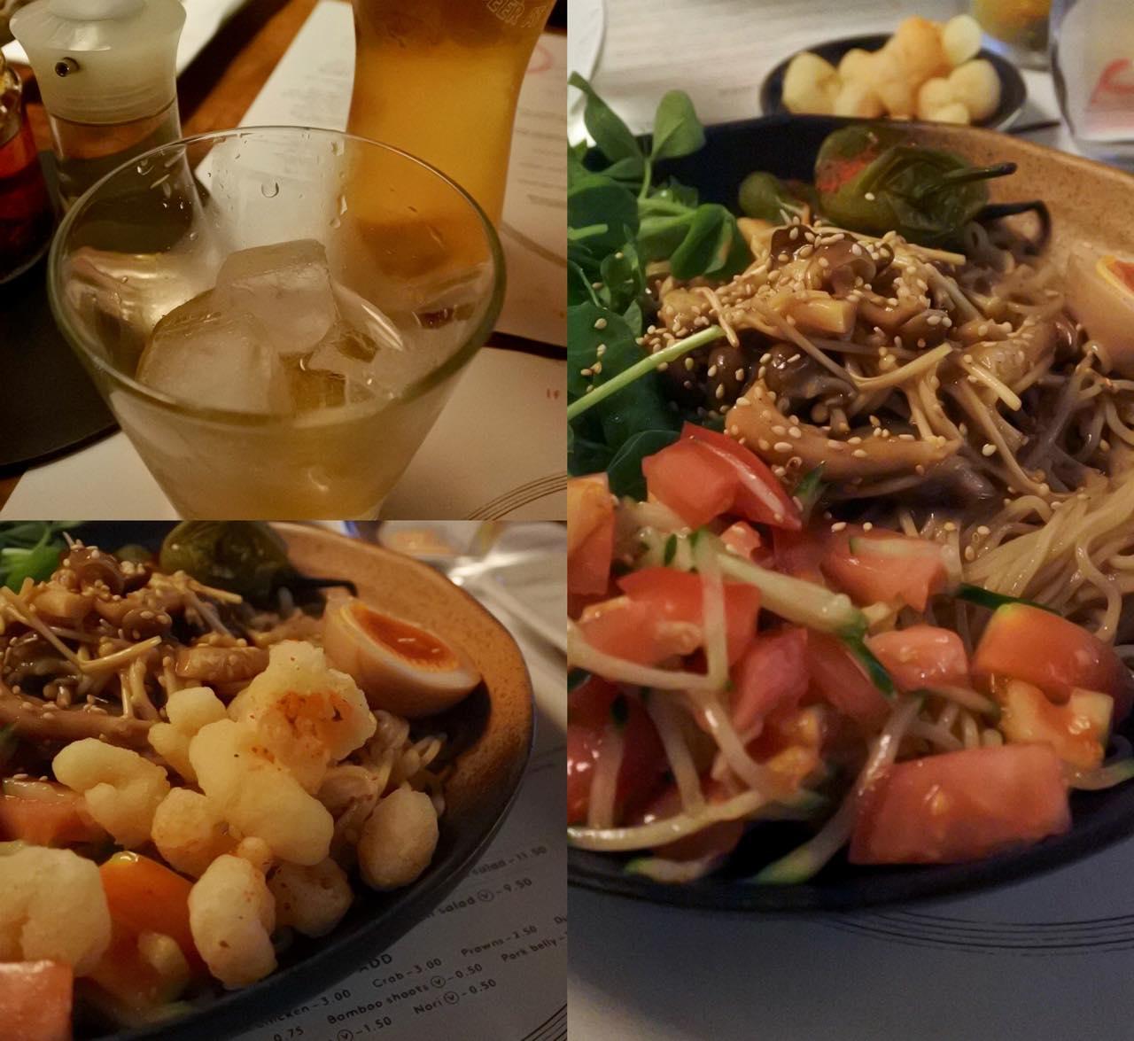 また食べたい冷麺♪ 左上は梅酒です。