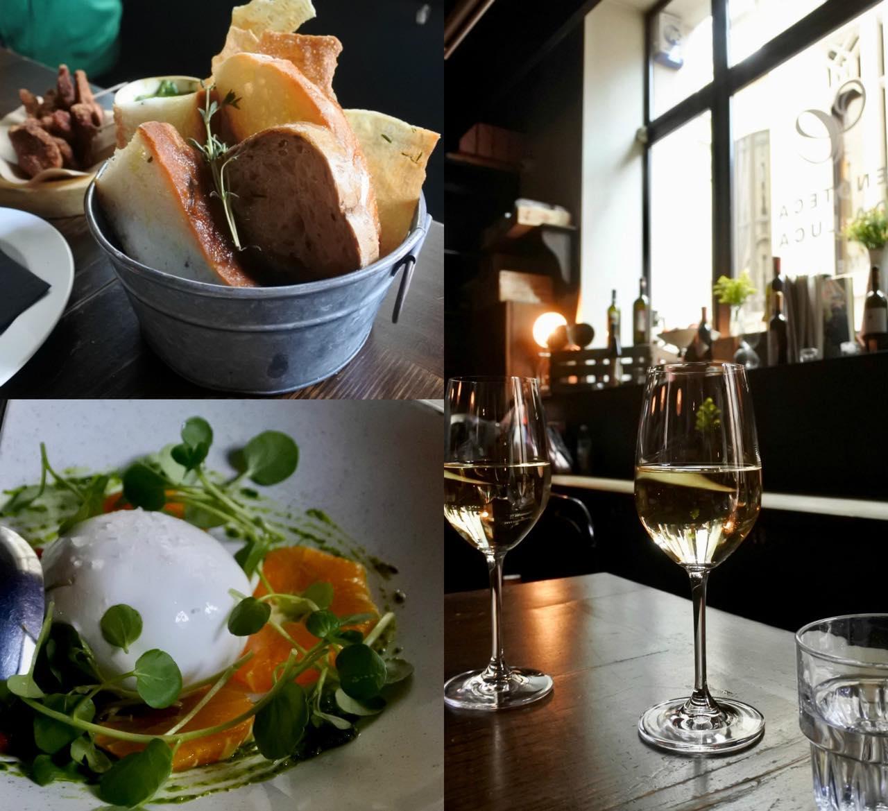 最近はどのレストランにもあるブラータ・チーズとトマトのサラダ。フレッシュで美味しい!