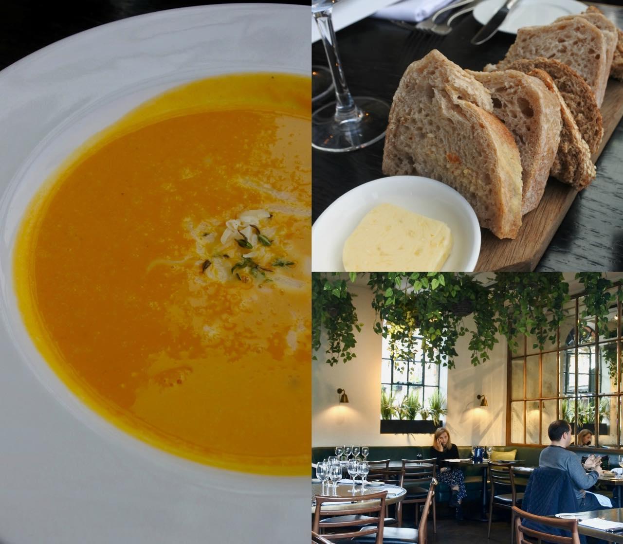 優しい味のスープはチーズが決め手。