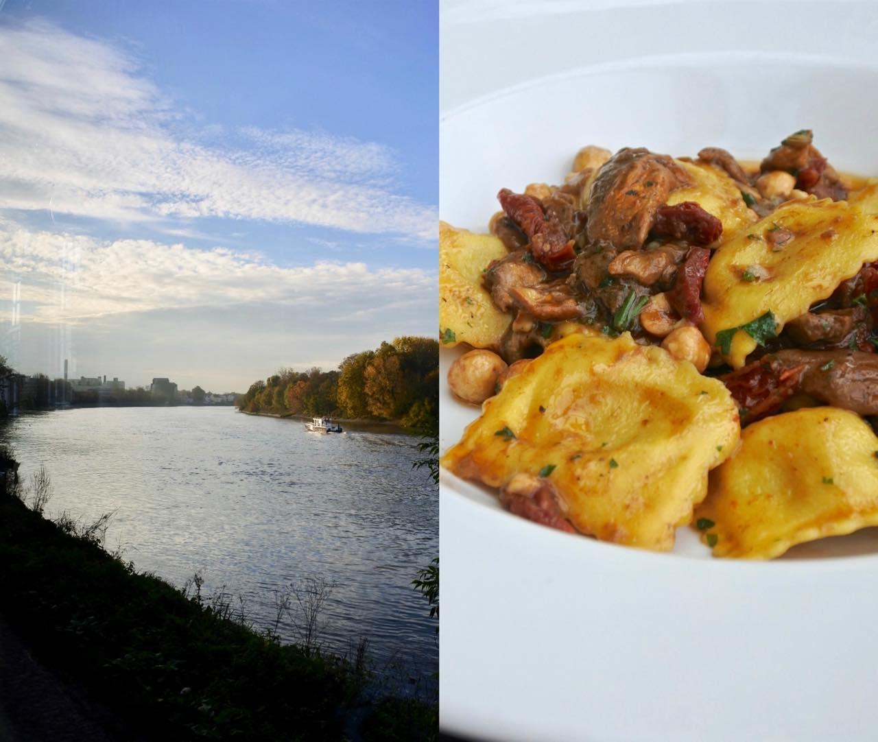 こちらはお友達のメイン、ラビオリとキノコ。食べさせていただいたのですが、すごーーく美味しかった! リックさん、ベジタリアン料理もお上手。