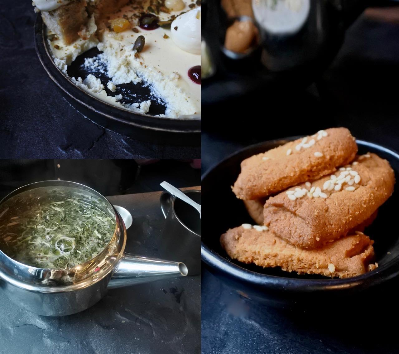 胡麻クッキーを食べにまた来たいw 左下は中東風のハーブ・ティー「Malawi Moto」