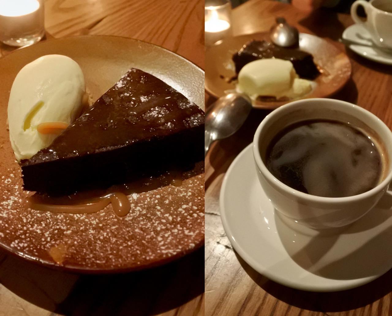 ほろ苦とさえ言えるチョコレート・ケーキ。大人の味。