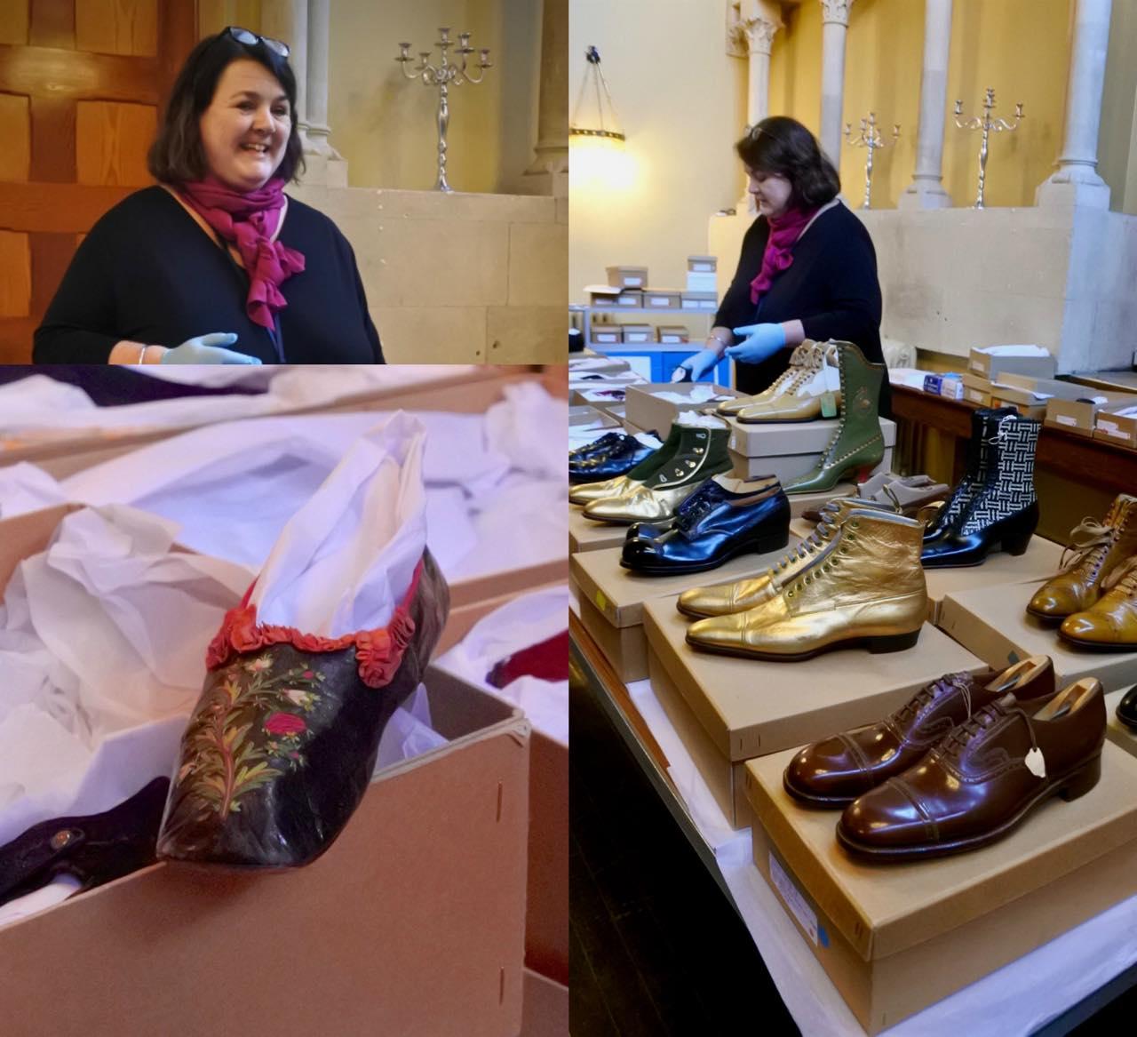 ミュージアムに収蔵されているこれだけの靴を、このツアーのために用意してくださったキュレーターさんに感謝!