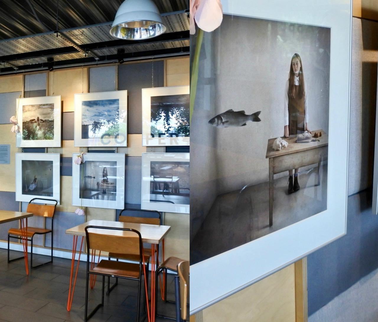右の作品は、前回のOld Brompton Galleryでも展示されていた作品。