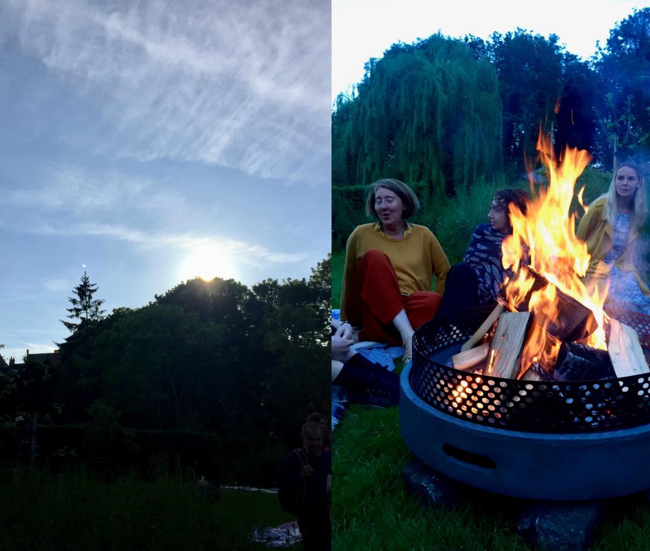 焚き火を囲むと連帯感が増しますよね ^^  不思議〜。