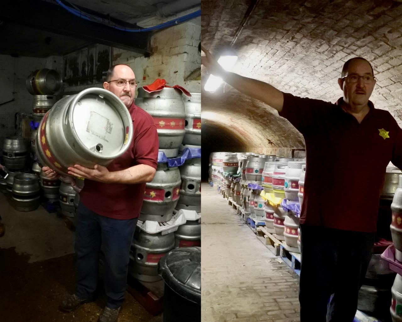 毎日、ビールのアルコール度をチェックして、適正になったときに発酵工程を止めます。そのあとに、樽に入れる。