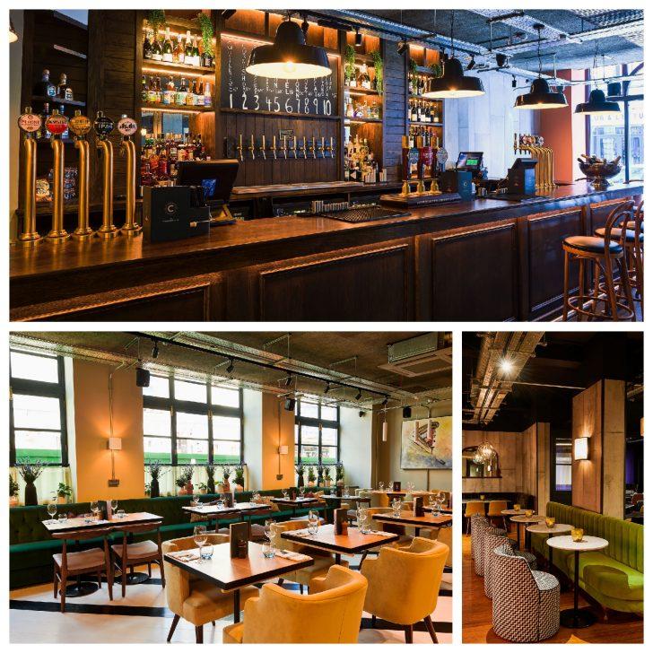 改装したてのパブ兼レストラン。シティ勤務のビジネスマン&ウーマンに人気のスポット