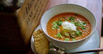 ひよこ豆とトマトのスープ